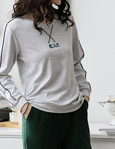 cheap Pajamas-Women's Suits Nightwear Gray M L XL