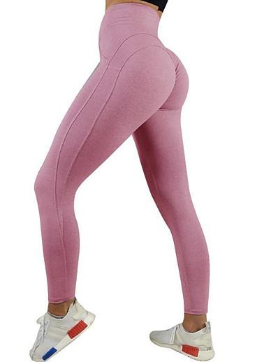 cheap SPORTSWEAR-Women's High Waist Yoga Pants Scrunch Butt Ruched Butt Lifting Cropped Leggings Tummy Control Butt Lift Black Blue Pink Fitness Gym Workout Running Sports Activewear High Elasticity Skinny