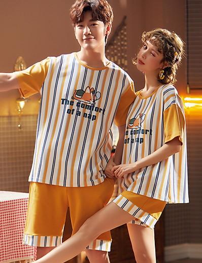cheap Pajamas-Women's Suits Nightwear Yellow M L XL