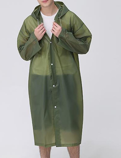 cheap MEN-Protective Clothing Anti Dust And Droplet Men's Basic Long Cloak / Capes, Solid Colored Hooded Long Sleeve Polyester Black / Army Green / Blue