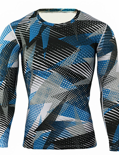 cheap Running, Jogging & Walking-JACK CORDEE Men's Long Sleeve Compression Shirt Running Shirt Running Base Layer Top Athletic Winter Moisture Wicking Breathable Soft Running Active Training Jogging Sportswear Camo / Camouflage