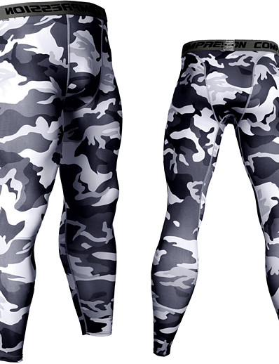 cheap Running, Jogging & Walking-JACK CORDEE Men's Running Tights Leggings Compression Pants Sports & Outdoor Base Layer Tights Leggings Spandex Winter Running Jogging Training Moisture Wicking Quick Dry Breathable Sport White Black
