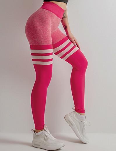 abordables NOUVELLE DANS-Femme Basique Mince Joggings Pantalon - Rayé Noir Rouge Jaune S / M / L