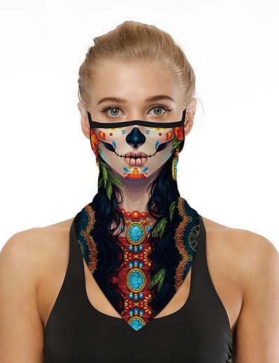 abordables HALLOWEEN-Homme / Femme Motifs 3D Foulard Triangulaire Imprimé / Bloc de Couleur
