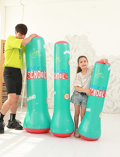 olcso SPORTSWEAR-Punching Bag for Martial Arts Boxing Youth Strength Training Crossfit Weight Loss Black Green / Kid's