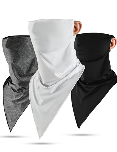 cheap Men's Accessories-Neck Gaiter Pollution Protection Quick Dry Ultraviolet Resistant Men's Active Triangle Scarf Bandana - Solid Colored
