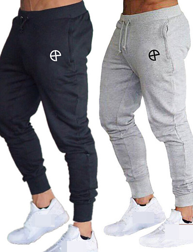 cheap Running, Jogging & Walking-Men's High Waist Sweatpants Joggers Track Pants Sports & Outdoor Athleisure Wear Bottoms Drawstring Winter Running Walking Jogging Training Moisture Wicking Breathable Soft Sport Black Red Army Green