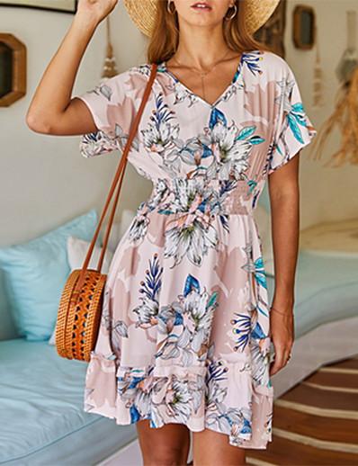 cheap Summer Dresses & Boho-2020 SUMMER Floral Printed Dress