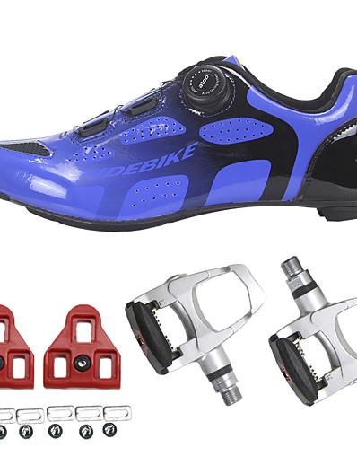 cheap SPORTSWEAR-SIDEBIKE Adults' Bike Shoes Carbon Fiber Breathable Reflective Strips Road Cycling Cycling / Bike Recreational Cycling Bule / Black Men's Women's Cycling Shoes