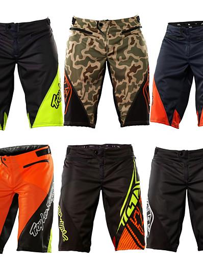 cheap Cycling-Men's Downhill Shorts Cycling MTB Shorts Bike Shorts Bottoms Breathable Moisture Wicking Quick Dry Sports Plaid / Checkered Cotton Green / Black / Black / Green / Black / Orange Mountain Bike MTB