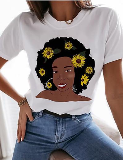 cheap TOPS-Women's Graphic Prints Print T-shirt Basic Daily White
