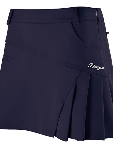 cheap Golf, Badminton & Table Tennis-Women's Tennis Golf Outdoor Exercise Skirt Skort Breathable Wearable Sports & Outdoor Spring, Fall, Winter, Summer Solid Colored White Red Pink Orange Dark Navy / Stretchy