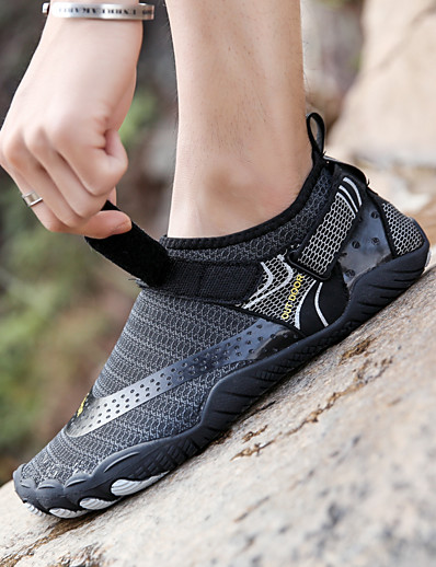 cheap Surfing, Diving & Snorkeling-Water Shoes 2.5mm Stripe Spandex Net Synthetic leather Anti-Slip Swimming Diving Surfing Snorkeling Rafting - for Adults