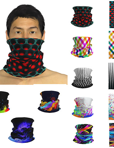 cheap Men's Accessories-Men's / Unisex 3D Print Square Scarf / Infinity Scarf / Hijab - Print / Color Block Multifunctional