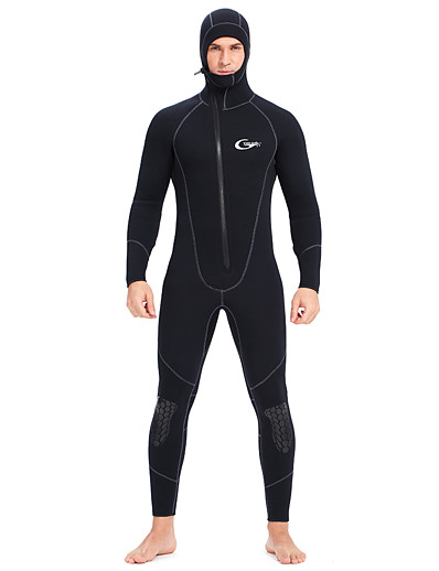 cheap Surfing, Diving & Snorkeling-YON SUB Men's Full Wetsuit 5mm CR Neoprene Diving Suit Thermal Warm Waterproof Long Sleeve Front Zip - Diving Water Sports Solid Colored Autumn / Fall Spring Summer / Winter / Micro-elastic