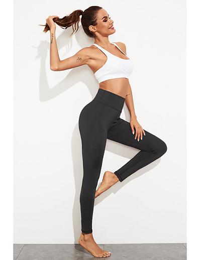 cheap Leggings-Women's Sports / Yoga Basic Legging - Solid Colored, Sporty High Waist Black Purple S M L