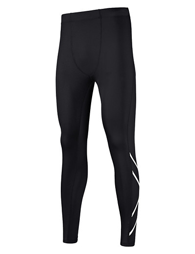 cheap Running, Jogging & Walking-Men's Running Tights Leggings Compression Pants Athletic Tights Leggings Bottoms Winter Fitness Gym Workout Running Jogging Training Moisture Wicking Breathable Reflective Strips Sport Black