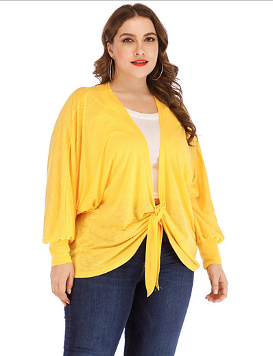 cheap Plus Size Tops-Women's Cover-Up Swimsuit Solid Colored Swimwear Bathing Suits Yellow