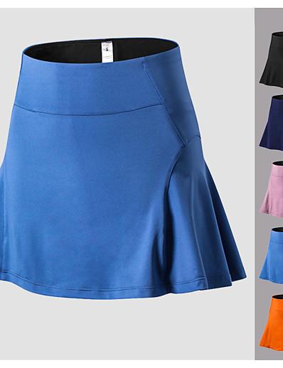 cheap Golf, Badminton & Table Tennis-Women's Tennis Golf Skirt Butt Lift Quick Dry Breathable Sports Outdoor Autumn / Fall Spring Summer Spandex Solid Color Black Blue Pink Orange Dark Navy / High Elasticity / High Rise