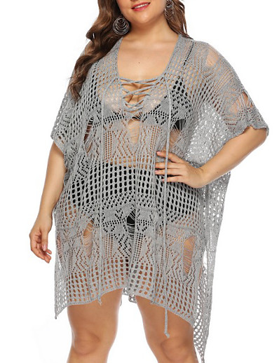 cheap Plus Size Swimwear-Women's One Piece Swimsuit Normal Swimwear Bathing Suits White Black Gray