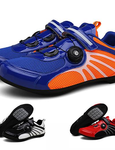 cheap SPORTSWEAR-Adults' Bike Shoes Anti-Slip Breathable Mountain Bike MTB Road Cycling Cycling / Bike Red and White Blue+Orange Black / White Men's Women's Cycling Shoes / Breathable Mesh