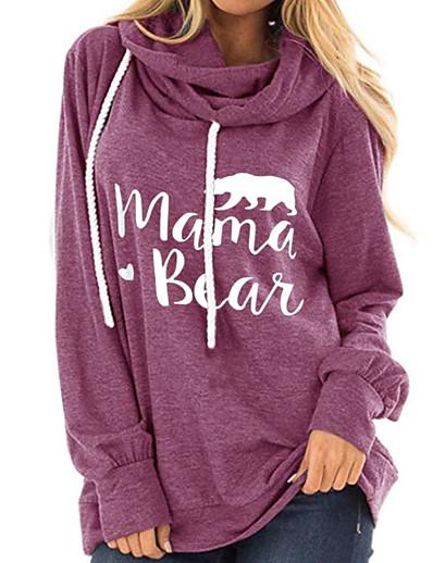 cheap Hoodies & Sweatshirts-Women's Pullover Hoodie Sweatshirt Letter Casual Hoodies Sweatshirts  Loose Black Blue Red