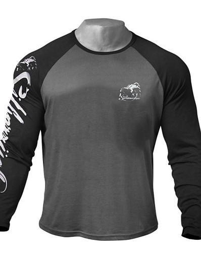 cheap Running, Jogging & Walking-Men's Long Sleeve Running Shirt Top Athleisure Winter Cotton Breathable Soft Sweat Out Fitness Gym Workout Performance Running Training Sportswear White Black Activewear Stretchy / Sweatshirt