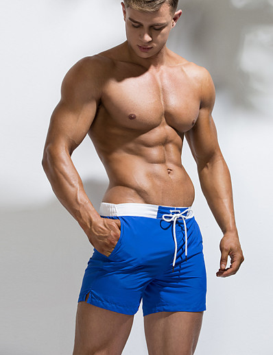 cheap Surfing, Diving & Snorkeling-Men's Swim Shorts Swim Trunks Bottoms Quick Dry Swimming Surfing Water Sports Solid Colored Summer
