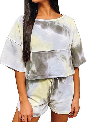 abordables Pyjamas-Femme Spandex S Bleu