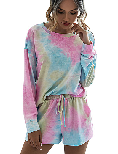 preiswerte Pyjama-Damen Elasthan S Blau