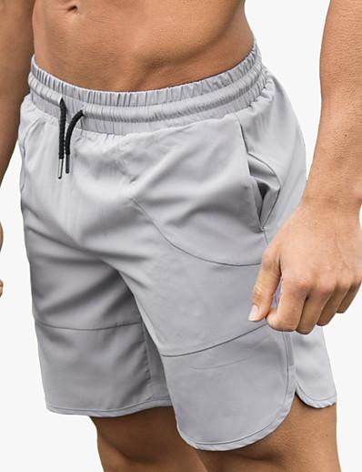 cheap Running, Jogging & Walking-Men's Running Shorts Bermuda Shorts Athleisure Bottoms Drawstring Fitness Gym Workout Performance Running Training Breathable Quick Dry Soft Normal Sport Dark Grey Black Army Green Light Gray