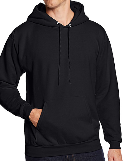 cheap Sports Athleisure-Men's Hoodie Sweatshirt Hoodies Pullover Hoody Black White Blue Pink Pure Color Pocket Drawstring Hoodie Fleece Cotton Solid Color Cool Sport Athleisure Top Long Sleeve Breathable Soft Comfortable
