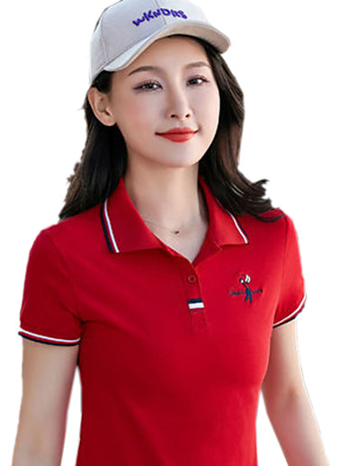 cheap Golf, Badminton & Table Tennis-Women's Golf Polo Shirts Short Sleeve Breathable Quick Dry Soft Athleisure Outdoor Summer Cotton White Black Yellow Red / Micro-elastic
