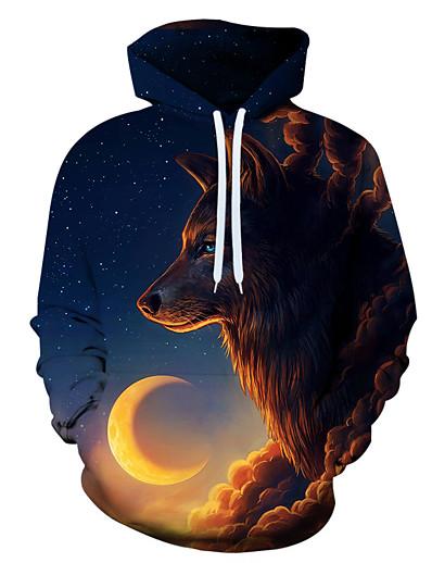 cheap MEN'S-Men's Holiday Hoodie Graphic Hooded Casual Hoodies Sweatshirts  Rainbow
