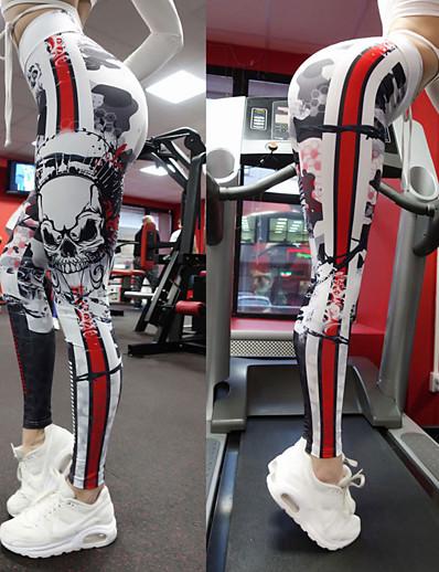 cheap Bottoms-Women's Sporty Sports Slim Daily Sweatpants Pants Skull Full Length Sporty Black