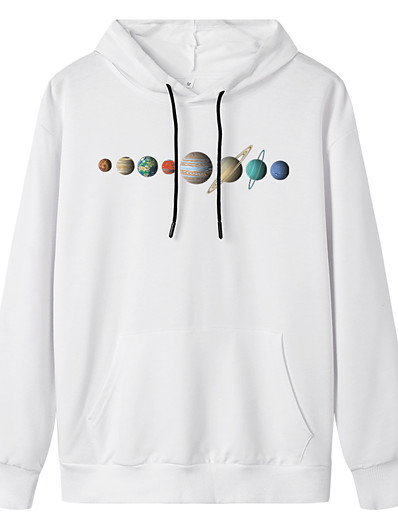 cheap Hoodies & Sweatshirts-Women's Pullover Hoodie Sweatshirt Graphic Daily Weekend Basic Casual Hoodies Sweatshirts  White Black Blue