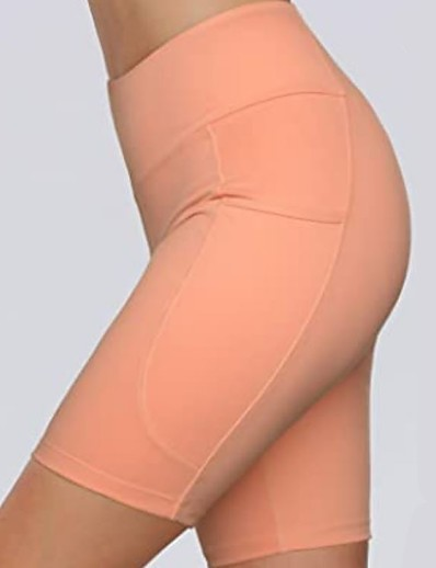 cheap Bottoms-Women's Sporty Yoga Sports Slim Sweatpants Shorts Pants Solid Colored Short High Waist Black Yellow Blushing Pink