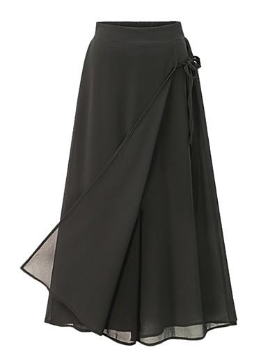 cheap Women's Bottoms-Women's Basic Comfort Loose Daily Capri shorts Pants Solid Colored Calf-Length Drawstring Black