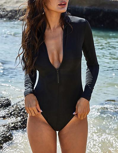 cheap One-Pieces-Women's One-piece Swimsuit Paisley Swimwear Bathing Suits Black