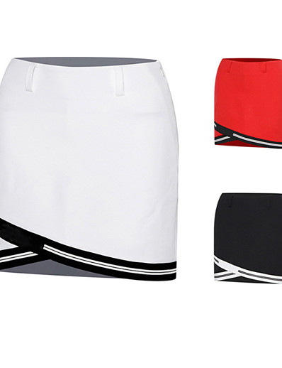 cheap Golf, Badminton & Table Tennis-Women's Tennis Golf Skirt Skort Breathable Fast Dry Wearable Sports & Outdoor Athleisure Summer Solid Colored White Black Red