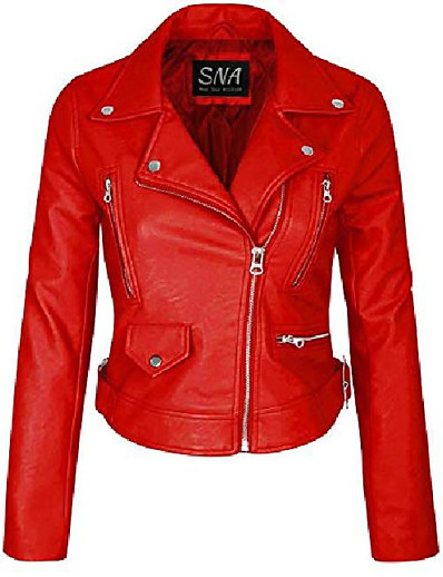 cheap Jackets-sna womens red custom made leather jacket - custom made leather jackets for women