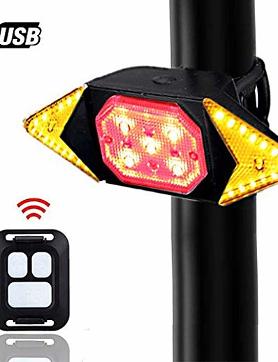 cheap Cycling-bike tail light with turn signals wireless remote control red rear light usb rechargeable cycling back light fit mountain road commuting bicycle & #40;bike tail light with turn signals 5