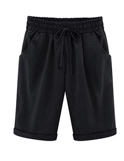 abordables Bas-Femme Ample Chino Pantalon Couleur Pleine Blanche Noir Jaune