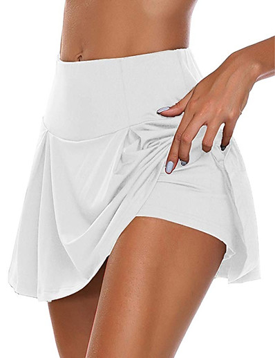 cheap Women's Skirts-Women's Daily Wear Date Basic Sexy Skirts Solid Colored Layered White Black