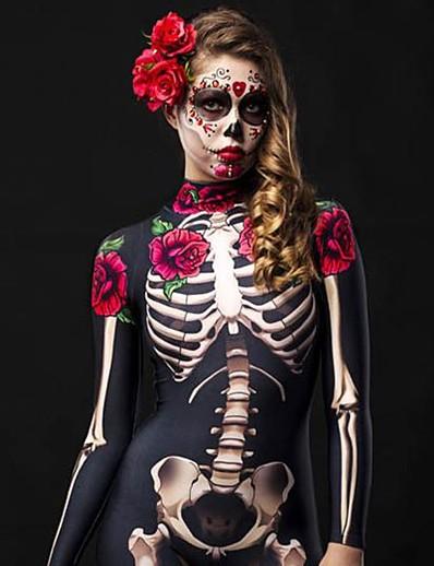 cheap 09/16/2020-Women's Punk & Gothic Black Jumpsuit Floral Abstract Print