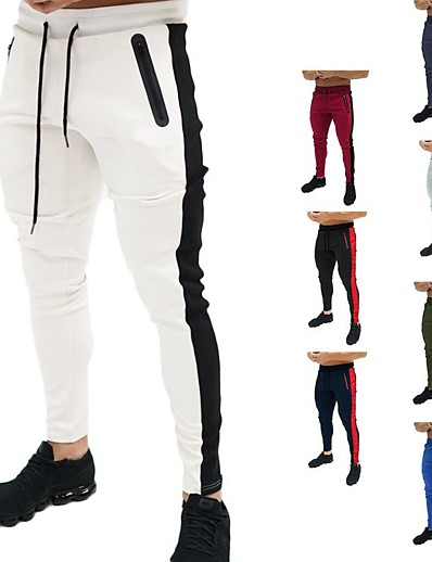 cheap SPORTSWEAR-Men's Sweatpants Joggers Jogger Pants Track Pants Athleisure Bottoms Drawstring Winter Fitness Gym Workout Performance Running Training Breathable Quick Dry Soft Normal Sport White Black Blue Red