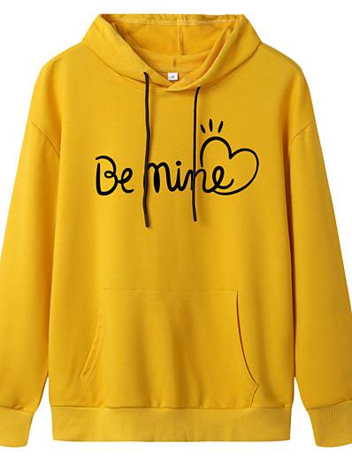 cheap Hoodies & Sweatshirts-Women's Pullover Hoodie Sweatshirt Slogan Daily Casual Basic Hoodies Sweatshirts  White Black Blue