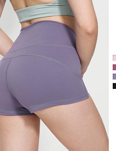 cheap Bottoms-Women's Basic Sports Cotton Slim Daily Shorts Pants Solid Colored Short Black Purple Blushing Pink