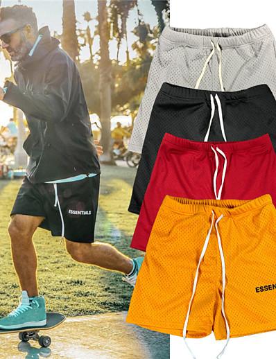 cheap Running, Jogging & Walking-Women's Men's Running Shorts Sweatshorts Bermuda Shorts Athletic Shorts Bottoms Drawstring Mesh Summer Fitness Gym Workout Running Jogging Cycling Moisture Wicking Lightweight Breathable Normal Sport