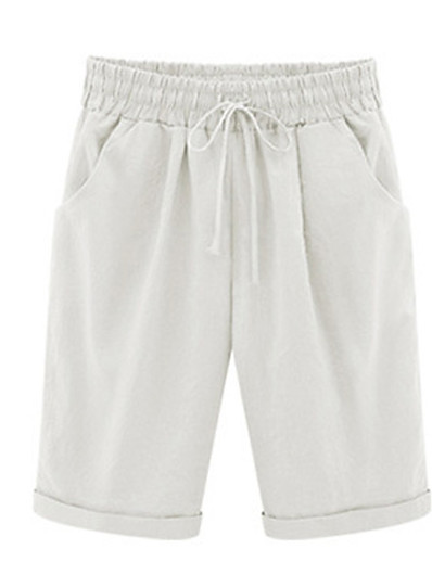 cheap Bottoms-Women's Loose Chinos Pants Solid Colored White Black Yellow